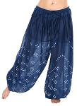 Jaipur Print Cotton Tribal Harem Pants - BLUE