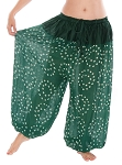 Jaipur Print Cotton Tribal Harem Pants - GREEN