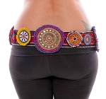 Colorful Beaded Medallion Tribal Costume Belt