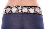 Sequin Tribal Belt with Shisha Mirrors - SILVER / BLACK