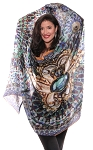 Printed Silk Veil for Belly Dance - ARABIAN TREASURE
