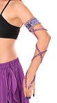 Arm Band with Stretch Wrap Strap Sleeve - PURPLE / SILVER
