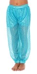 Little Girls Sparkle Dot Harem Pants - TURQUOISE
