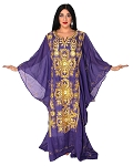 CAIRO COLLECTION: Traditional Khaleeji Thobe Dress- DARK PURPLE GRAPE