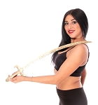 PETITE Lightweight Brass Egyptian Belly Dance Prop Sword - GOLD