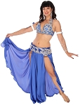 CAIRO COLLECTION: Professional Belly Dance Costume from Egypt - ROYAL BLUE / SILVER