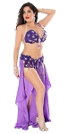 CAIRO COLLECTION: Professional Belly Dance Costume from Egypt - ROYAL PURPLE FLORAL