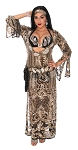 CAIRO COLLECTION: Professional Belly Dance Sequin Beledi Saiidi Dress from Egypt - BLACK / GOLD