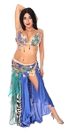 CAIRO COLLECTION: Professional Belly Dance Costume from Egypt - BLUE LEOPARD