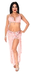CAIRO COLLECTION: Professional Belly Dance Costume from Egypt- PEACHY PINK