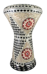 Doumbek/Darbuka (Egyptian Tabla) with Mother of Pearl Mosaic Inlays - SULASI