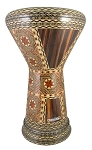 Sombaty Doumbek/Darbuka (Egyptian Tabla) with Wood Veneer Mosaic Inlays - NAKHASHAT