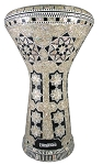 Pro Series Doumbek/Darbuka (Egyptian Tabla) with Mother of Pearl Mosaic Inlays - AL TOURAS