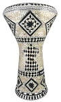 Pro Series Doumbek/Darbuka (Egyptian Tabla) with Mother of Pearl Mosaic Inlays - BAB AL KHAN