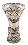 Pro Series Doumbek/Darbuka (Egyptian Tabla) with Mother of Pearl Mosaic Inlays - ZIKRAYAT