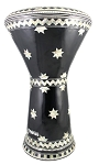Pro Series Doumbek/Darbuka (Egyptian Tabla) with Mother of Pearl Mosaic Inlays - NEJOUM AL LEYL
