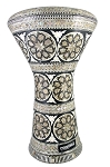 Pro Series Doumbek/Darbuka (Egyptian Tabla) with Mother of Pearl Mosaic Inlays - BASAMAT