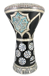 Pro Series Doumbek/Darbuka (Egyptian Tabla) with Mother of Pearl Mosaic Inlays - AL AHLAM