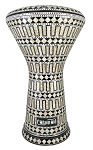 Pro Series Doumbek/Darbuka (Egyptian Tabla) with Mother of Pearl Mosaic Inlays - RUWMANI