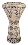 Pro Series Doumbek/Darbuka (Egyptian Tabla) with Mother of Pearl Mosaic Inlays - DARAWISH
