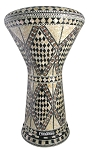 Pro Series Doumbek/Darbuka (Egyptian Tabla) with Mother of Pearl Mosaic Inlays - SALATIN