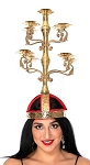 Elaborate Shamadan / Candelabra for Egyptian Dance - GOLD