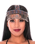 Beaded Kuchi Afghani Headpiece with Bells