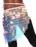 Hip Wrap with Paillettes - IRIDESCENT WHITE OPAL