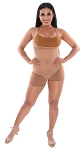 Sleeveless Mesh Bodysuit - MEDIUM NUDE