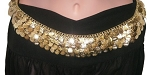 Metal Coin Costume Belt - GOLD