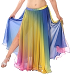 2 Layer Chiffon Ombre Skirt - RAINBOW