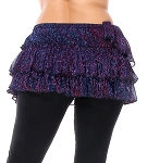 Iridescent Ruffled Hip Wrap - PURPLE / BLUE