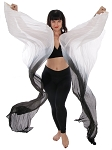 Silk Fan Veils Dance Prop (Set of 2) - SMOKE