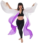 Silk Fan Veils Dance Prop (Set of 2) - IRIS