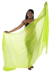Silk Belly Dance Veil - LIME GREEN