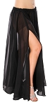 3-Panel Chiffon Skirt - BLACK