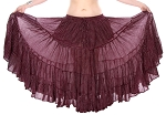 25 yard 4 tier Lurex Circle Skirt - BURGUNDY