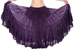 25 yard 4 tier Lurex Circle Skirt - PURPLE PLUM