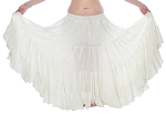 25 yard 4 tier Lurex Circle Skirt - IVORY