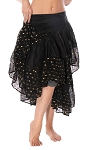 10 Yard Ashwarya Wrap Skirt - BLACK