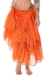 10 Yard Ashwarya Wrap Skirt - ORANGE