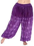 Jaipur Print Cotton Tribal Harem Pants - PURPLE