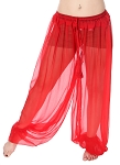 Chiffon Harem Pants - RED