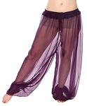 Chiffon Harem Pants - DARK PURPLE