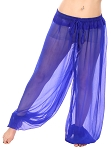 Chiffon Harem Pants - ROYAL BLUE