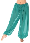 Chiffon Harem Pants - TEAL GREEN