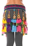 Afghani Tribal Paranda Belt with Shisha Mirrors and Fabric Tassels