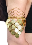 Royal Coin Drape Armband - GOLD