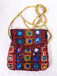 Embroidered Sequin Sagat / Zill Bag with Jewels - ASSORTED