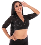 Jaipur Fabric Choli Top - BLACK